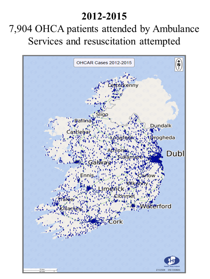 Map Of Ireland Hospitals.Strategy To Improve Out Of Hospital Cardiac Arrest Survival